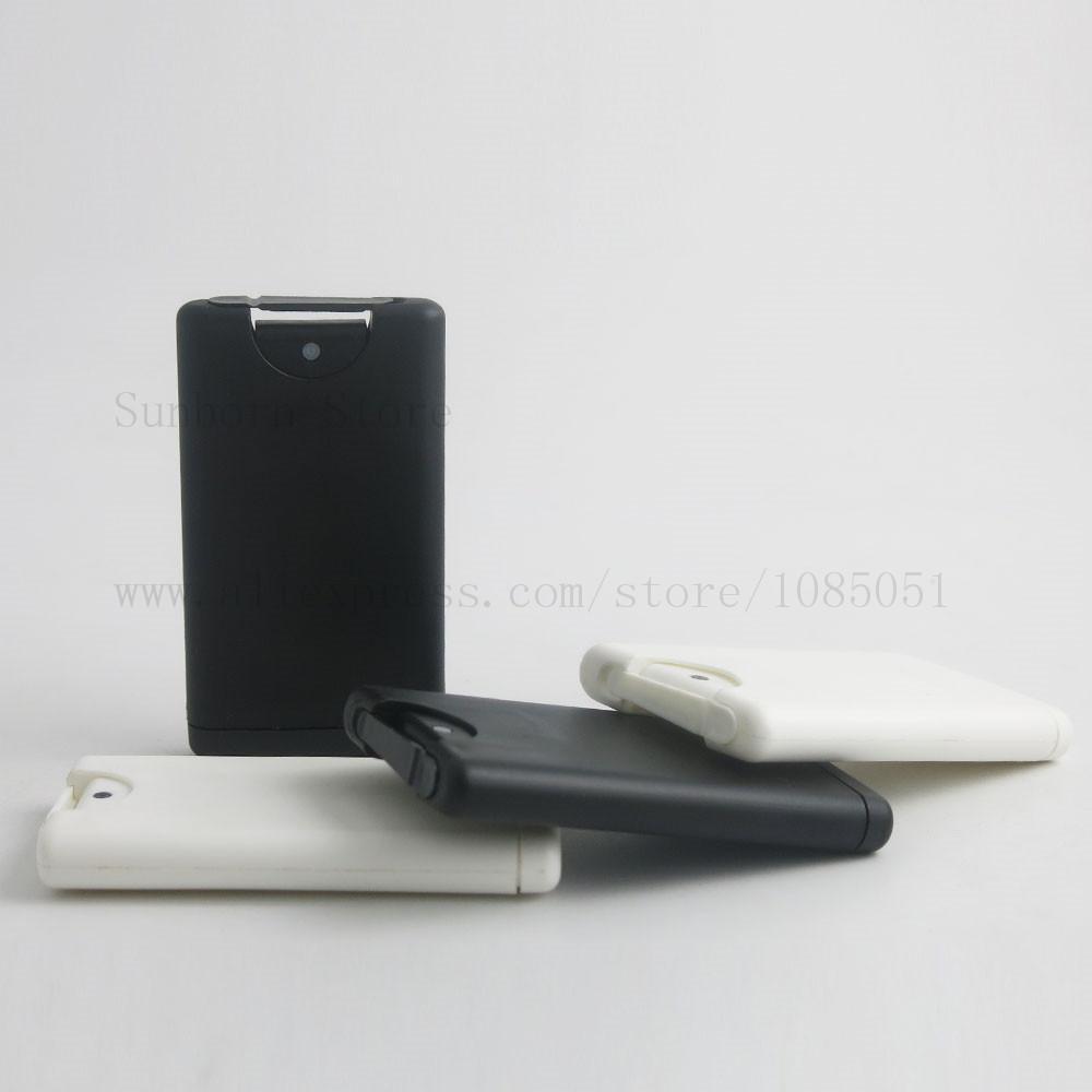 Boş 15ml Plastik Kredi Kartı Şekli Cep Parfüm Şişesi Kadınlar Kozmetik Konteyner Küçük Püskürtme Ambalaj 24pcs