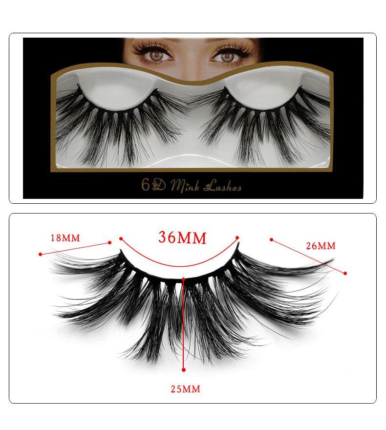 10 Estilos Extensión de pestañas de visón 3D Maquillaje de ojos Visón Falsas pestañas Suaves y gruesas pestañas falsas Herramientas de belleza