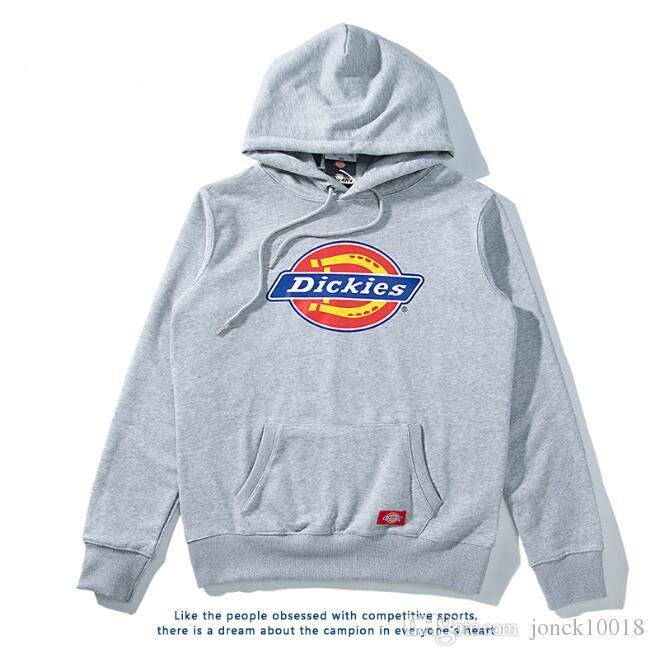 Sonbahar ve kış gelgit marka yeni klasik baskı İnce yün bobini bölüm kazak pamuk kazak kapüşonlu çift ceket erkek tasarımcı hoodies