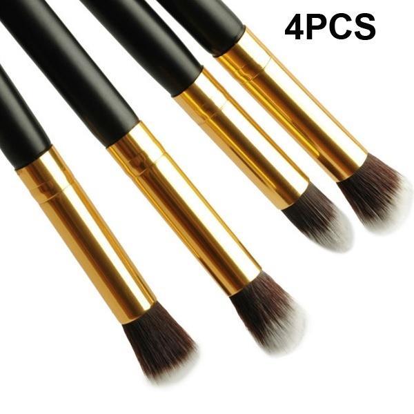 4pcs / set pinceaux pour les yeux professionnels ensemble fondant mélange crayon brosse outil de maquillage noir cosmétique