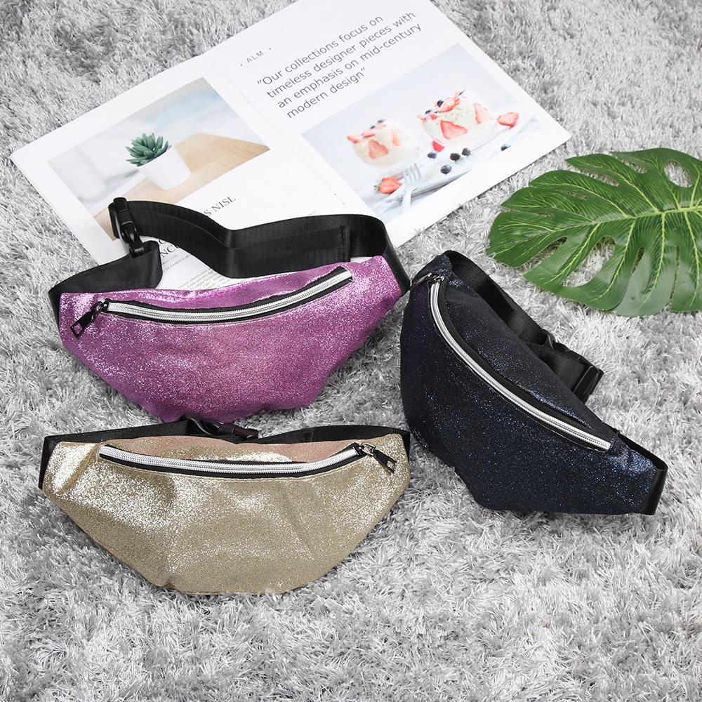 Блеск женские мода женские сумки мессенджер новые блестки блен талия сумка сумка на намонке Fanny 2020 пакеты пояса Днурь