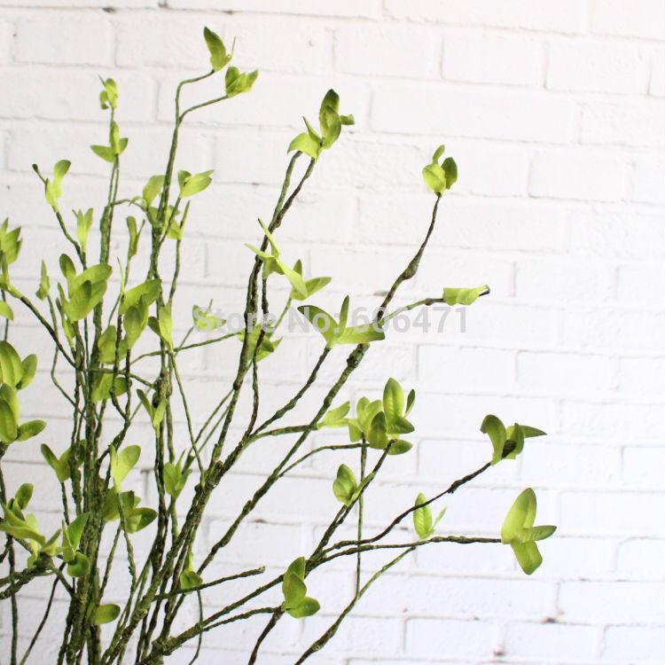 Kullanılması 100cm Kumaş Yeşil Yaprak Yeşillik Twig Yapay Yeşil Bitki Yüksek Simülasyon Düğün Dekorasyon Ev Ev