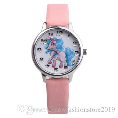 Horloge Quartz Casual Enfants Regardent Garçon Fille Cartoon élèves de l'école primaire Montres 2019 Cadeaux de vente Hot
