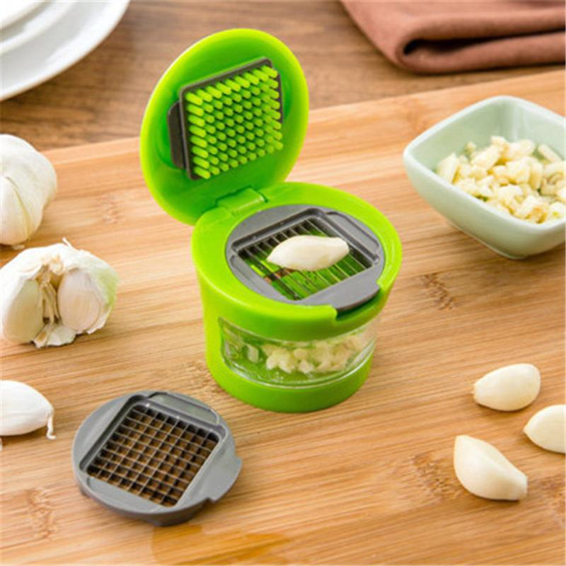 Garlic Chopper Mini Portable Garlic Grater ABS Stainless Steel Garlic Press Chopper Kitchen Food Aid Kitchen Tool CT0014