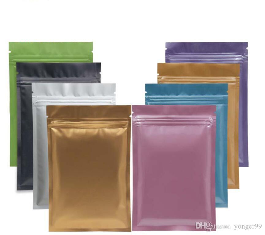 Nova multi cor Resealable Zip Mylar Saco de Sacos De Folha De Alumínio De Armazenamento De Alimentos saco de embalagem de plástico Sacos à Prova de Olho Livre s quadril