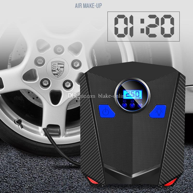 سيارة الرقمية الاطارات نافخة 12 فولت المحركات المحمولة ضاغط الهواء مضخة 150 رطل PSI LED عرض ضوء لدراجة نارية السيارات
