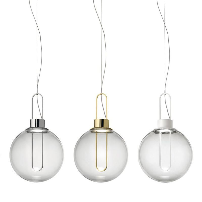 Modern vidro transparente do metal do ouro luminária Sala de suspensão do teto Light Chandelier Decor Fixação Fixação PA0585