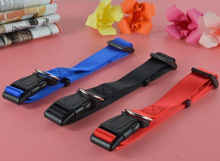 Dog Collar Leash Adjustable Nylon Pure Color Puppy Pet Collars Animal Pet Accessories For Pet Dogs 4 Sizes 888