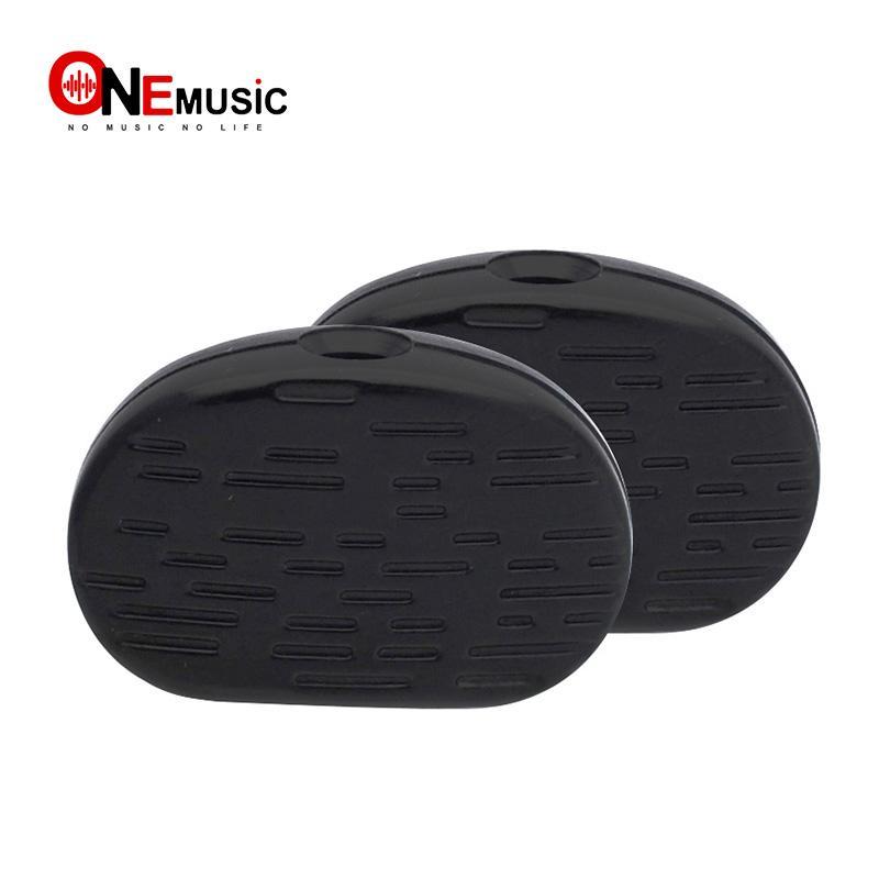 60pcs noire bois texture guitare Tuning Pegs Tuners Machine Head bouton de remplacement Bouton poignée Cap