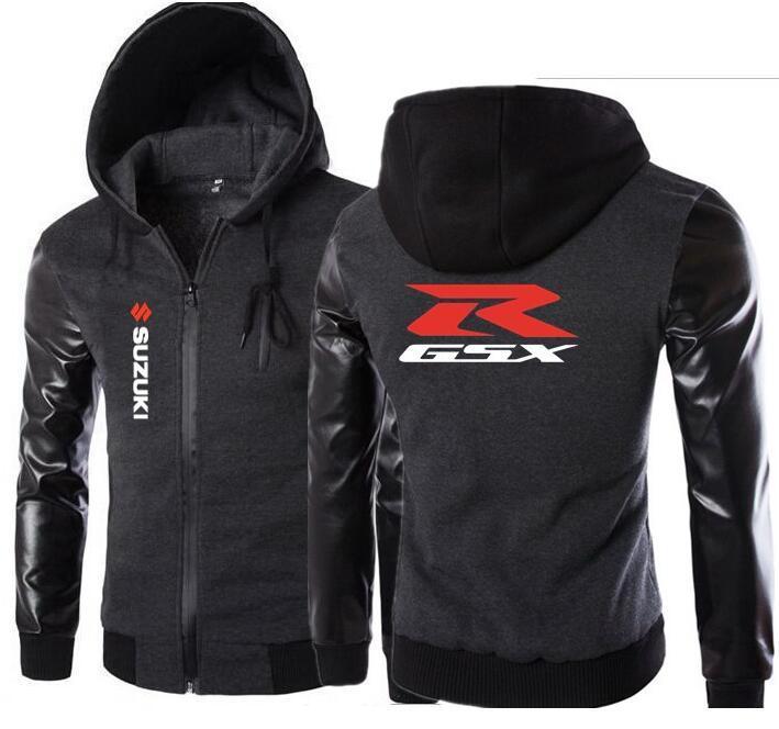 Jacke Warme Gsx Männliche Suzuki Reißverschluss Bomber Winter Großhandel Qualität Kleidung Sweatshirts Herbst Fleece Hoodies Männer dtxBrCshQ