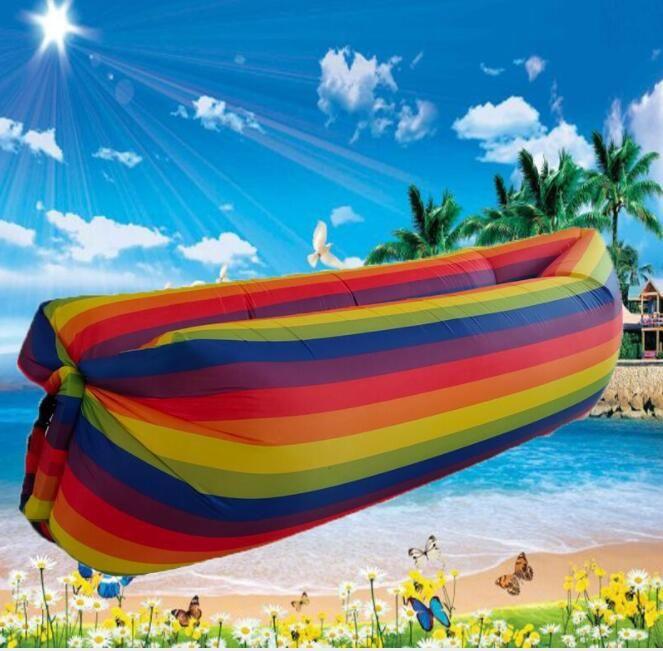 USA national flag banner sleep bag camo rainbow inflatable sleeping bags outdoor hiking traveling beach bag swim pool mattress float lounge