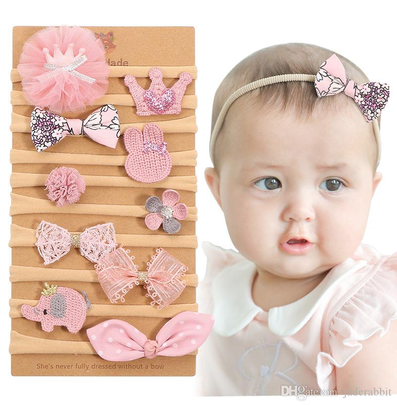 Personalized Newborn Infant Toddler Baby Girl Bow Headband Hair band US Seller