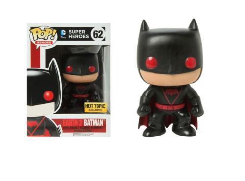 Funko البوب أبطال باتمان الحصري الفينيل عمل الشكل 62 DC الكون الأرض 2 لعبة جديدة لهدية عيد ميلاد الأطفال