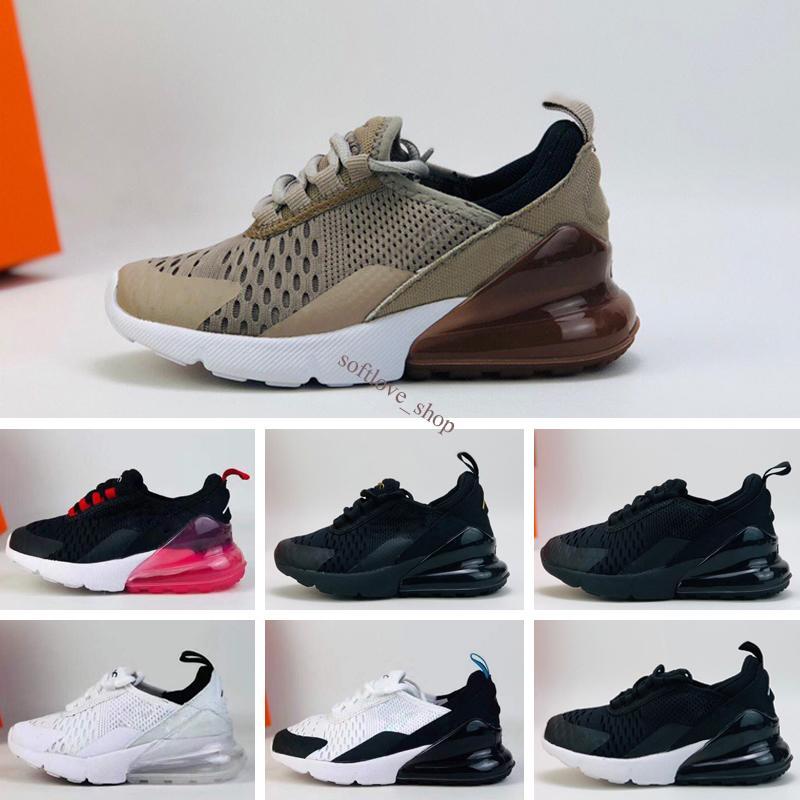 Nike Air Max 270 2020 2019 أطفال رياضية أحذية الأطفال أحذية الذئب الرمادي طفل الرياضة حذاء رياضة للصبي فتاة طفل Chaussures صب الشقي 22-35
