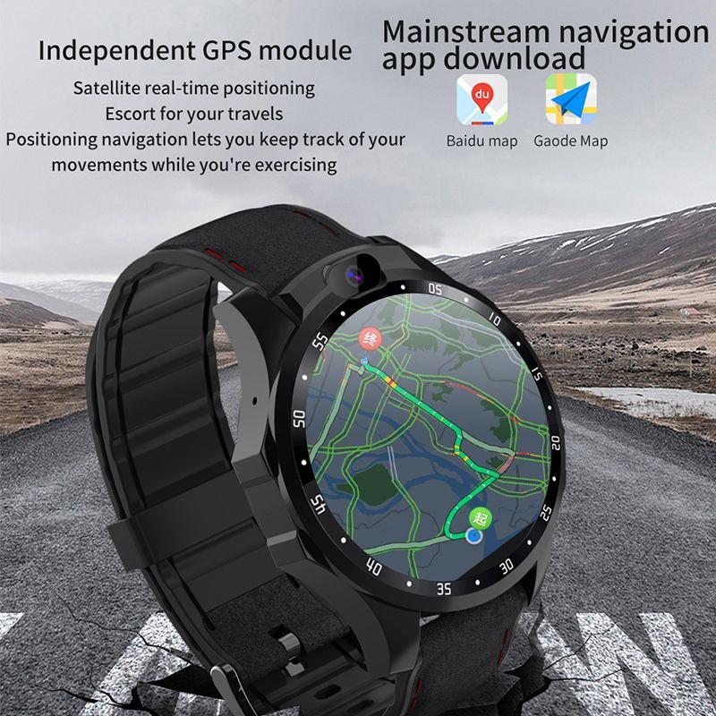 Smartwatch 4G netcom Herzfrequenzmonitor Android 7.1 Dual-HD-Kamera 1,6-Zoll-IPS-große Bildschirm Nachricht Erinnerung oder GPS-Uhr