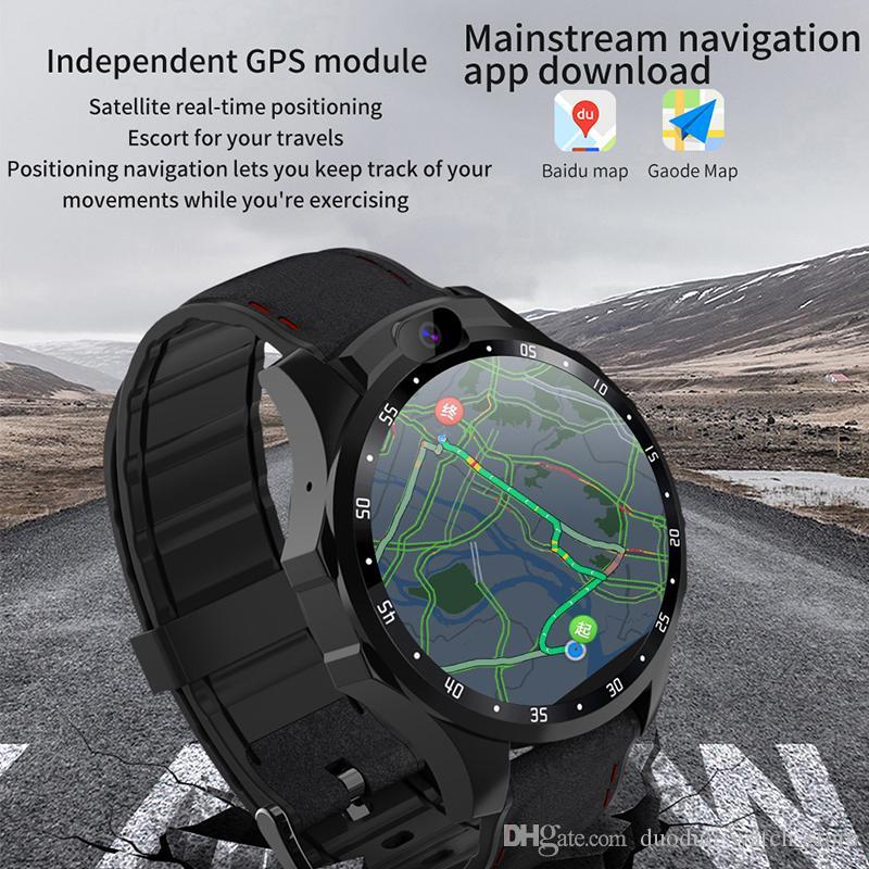 SmartWatch 4G Netcom Монитор сердечных сокращений Android 7.1 HD Dual Camera 1.6 дюйма IPS Большое экран Напоминание о сообщениях GPS Smart