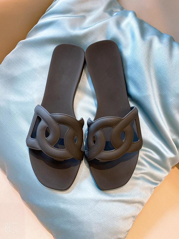 2020 mujeres del cuero genuino zapatos planos se deslizan en los cerdos hocico zapatos cómodos causales chanclas