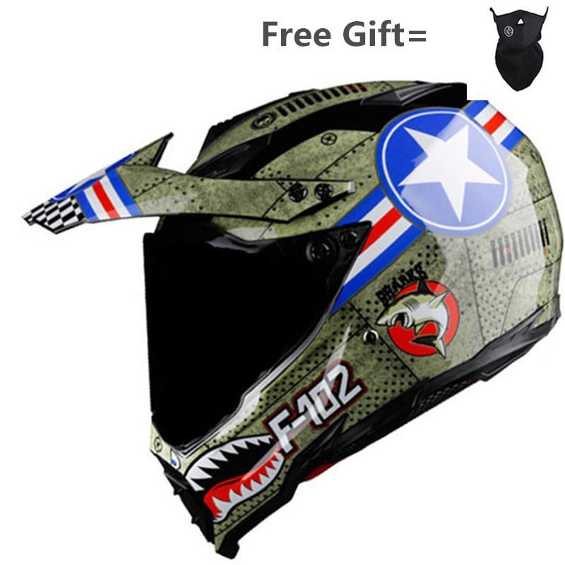 Capacete da motocicleta dos homens moda off road moto sujeira bicicleta capacete de corrida de motocross adulto de condução de segurança capacete protector DOT SDU