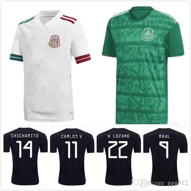 Mexico 2019 2020 H.LOZANO H.HERRERA R.MARQUEZ CHICHARITO A.GUARDADO Soccer Jersey 19 20 national team football shirt S-2XL
