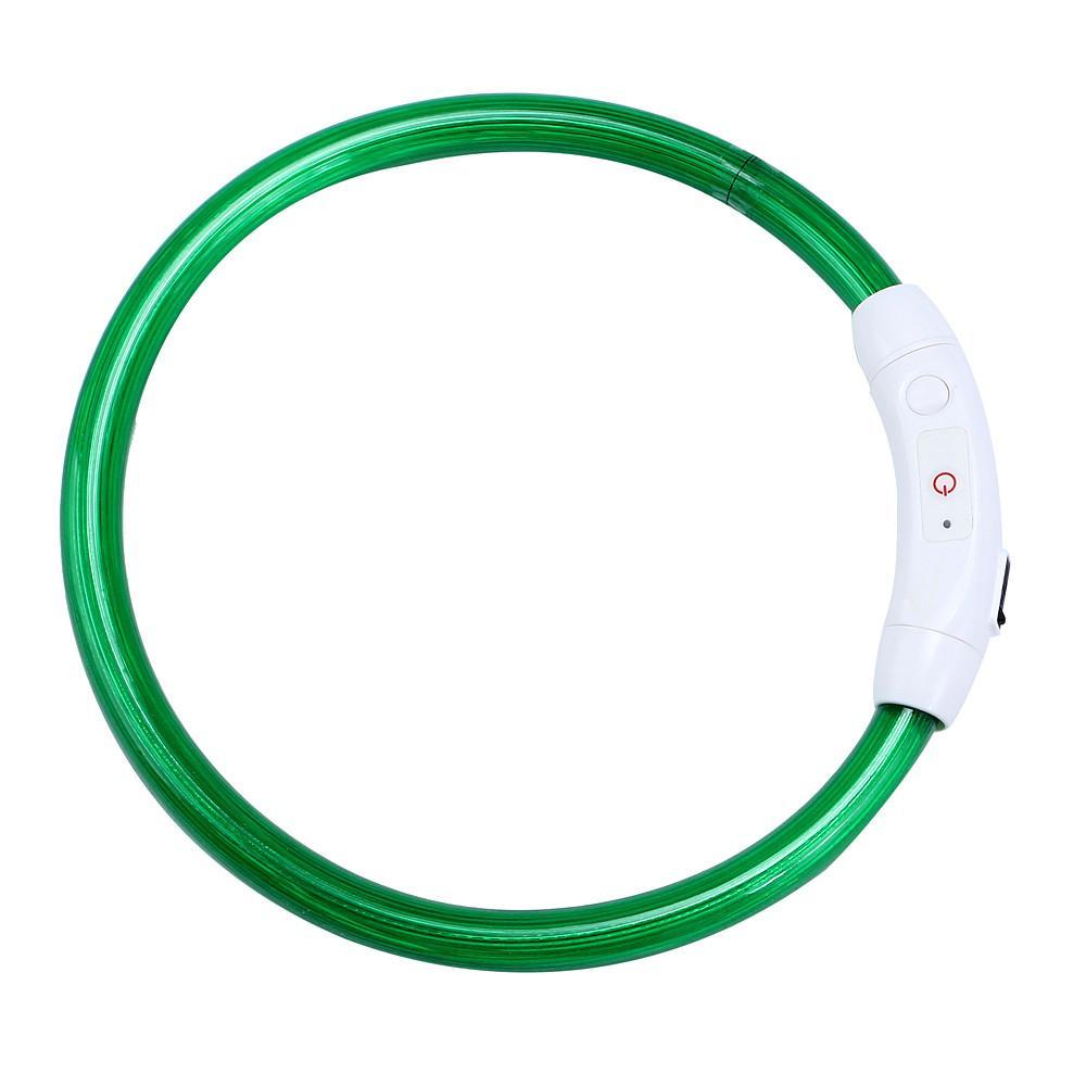 Fashion Rechargeable USB Waterproof Lighting Safety LED Flashing Light Band Safety Pet Dog Collar Luminous 9.13