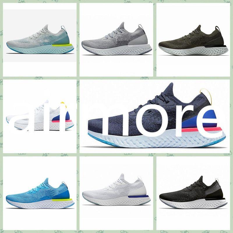 NREA1A 2019 Sıcak satış Yüksek Kalite Koşu Ayakkabı uçuş Epik S0UTH kolej lacivert üçlü koyu gri örme tasarımcı spor ayakkabıları tepki size36-45