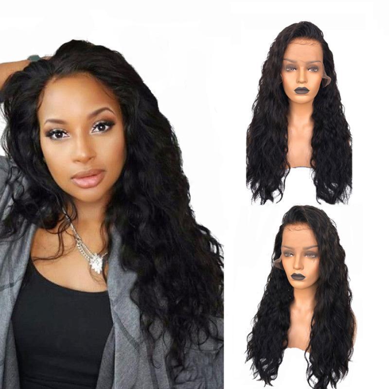 Fureya Волосы Длинные Вьющиеся Парики 360 Кружева Для Черных Женщин 150 %Плотность Бразильский Реми Человеческих Волос Предварительно Сорвал Отбеленные Узлы