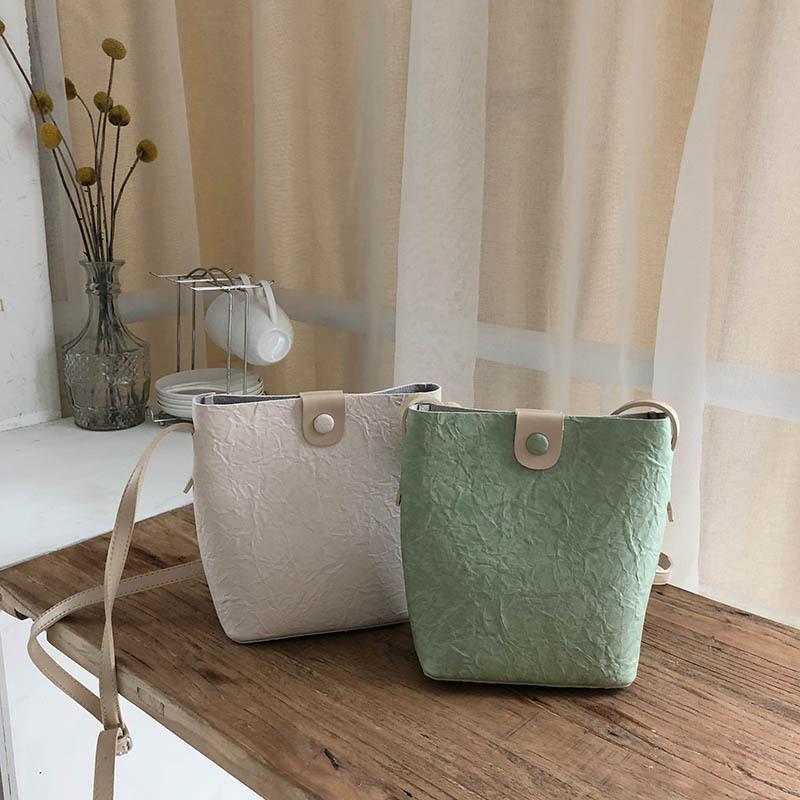 Pelle CHISPAULO modo delle donne Borse Tracolle solido di colore piccolo secchio borsa vintage singoli