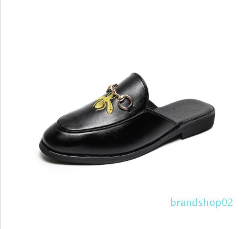 Tasarımcı kapak kapalı Moda Lüks erkek kadın platformu sandalet beyaz terlik slaytlar Yeni Geliş Erkekler makosenler hj789 için Chaussures ayakkabı flop