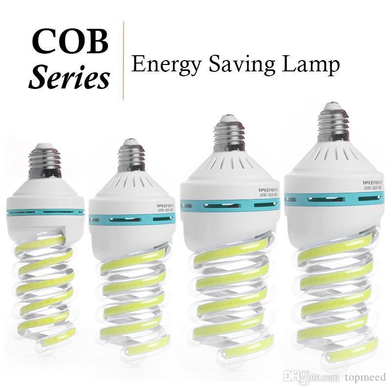 E27 كوز الذرة لمبة LED دوامة توفير الطاقة أضواء مبة 5W 9W 16W 20W 24W 32W 40W الثريا ضوء شمعة Lampada Bombillas