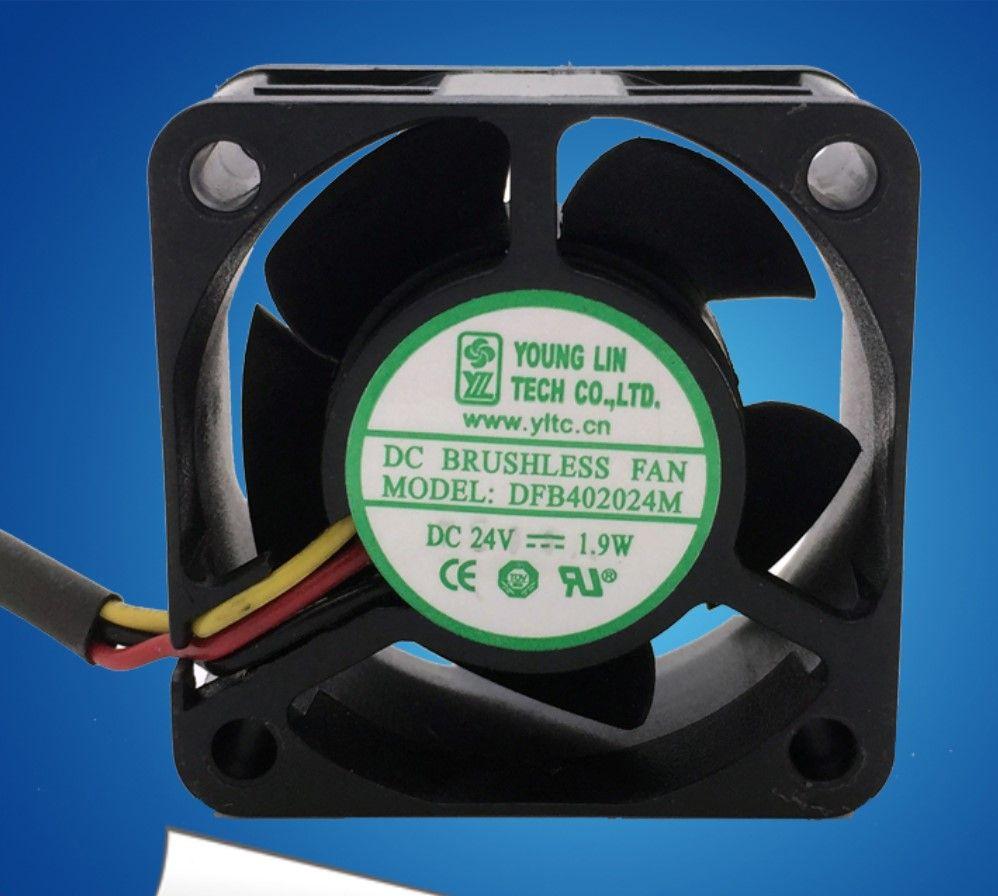 Original al por mayor alemán DFB402024M 4 CM 24V 1.9W 3 4020 ventilador de refrigeración