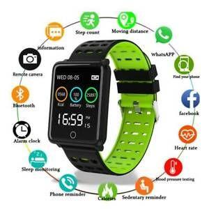 2019 новый смарт-спортивный браслет цветной экран частота сердечных сокращений кровяное давление GPS движению отслеживать IP68 водонепроницаемые часы спорта Рождественский подарок Часы
