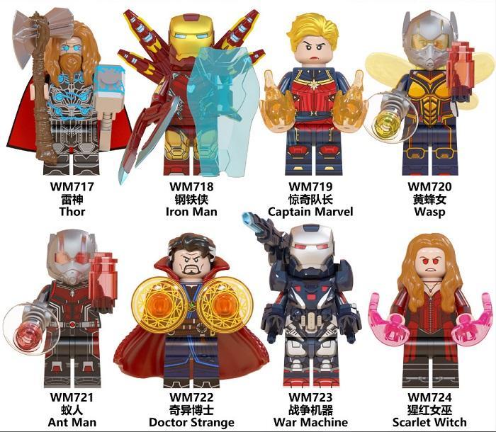 Regalos Guerra bruja Machine Building Blocks Thor Iron Man Capitán América avispa Hombre Hormiga Doctor Extraño para los niños Juguetes WM6063 zdl0521.
