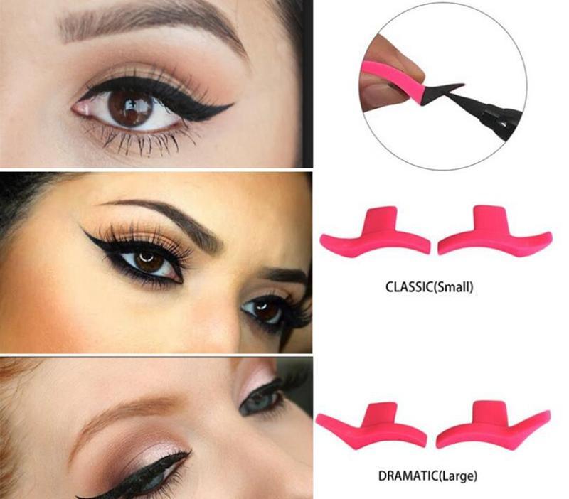 Modelo de carimbo delineador modelos de estêncil profissional ferramentas de maquiagem nova asa estilo fácil de maquiagem olho asa