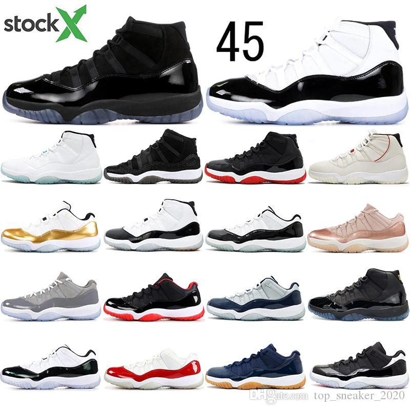 Nike AIR Jordan 11 los calcetines libres 11 zapatos de baloncesto del Mens Concord 45 casquillo y del vestido leyenda Platinum Blue Tint Gimnasio Hombres Mujeres Rojo Sport zapati