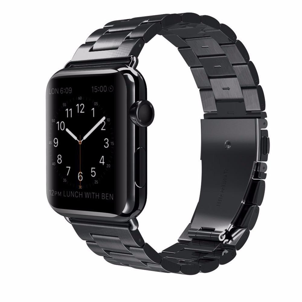 도매 고전적인 금속 스테인리스 악대 Apple 시계 시리즈 4를 위해 44mm 40mm 시계 줄 결박 iWatch 3 / 2 / 1를 위해 42mm 38mm