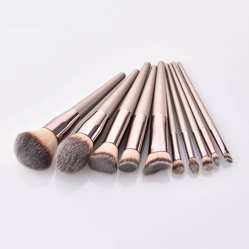 wholesale Factory Price 10pcs Beauty Tools Synthetic Soft Brushes cosmetic makeup brush set