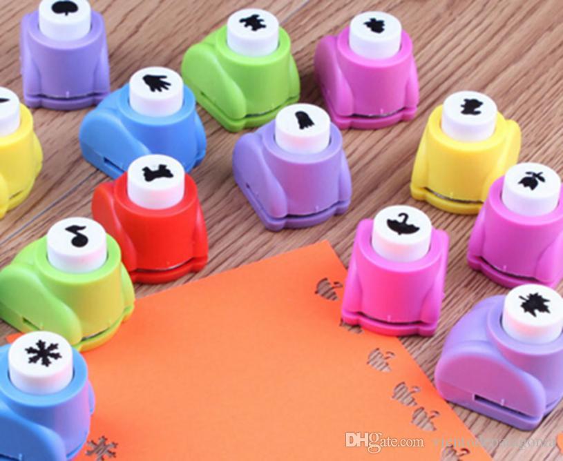 10шт X Mini Paper Cutter Мультфильм Форма Перфорация карты DIY Craft