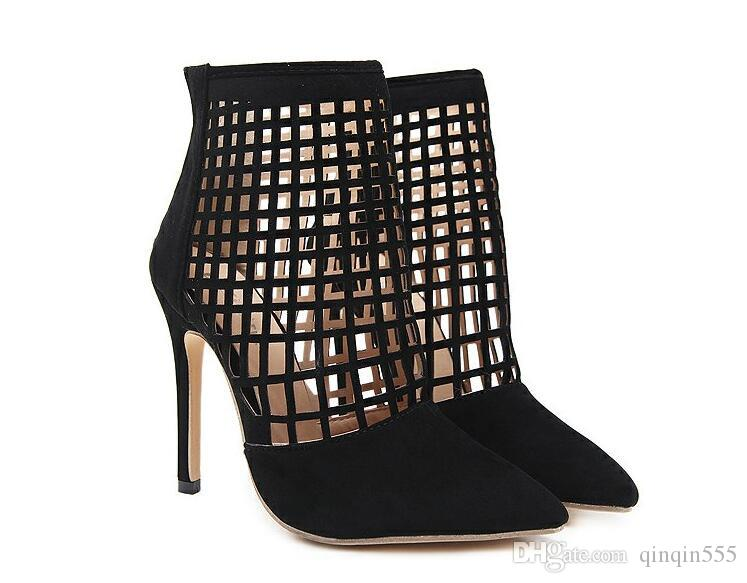 Großhandel DiJiGirls Fashion Damen High Heels 2018 Sommer Neue Damen High Heels Schuhe Schnüren Aushöhlen Spitz Party Pumps Schuhe Smemer Damen Schuh