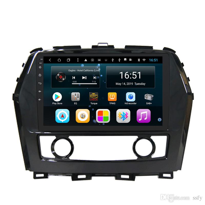 Android car RADIO with free map multimedia player excellent bluetooth precise GPS navigation fast delivery for Nissan maxima cima 2017 9inch