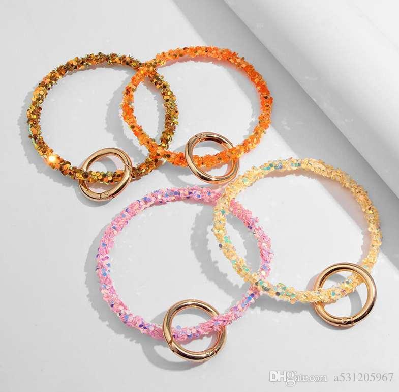 Llavero colorido del silicón de los hombres de las mujeres llaveros linda joyería Nuevos clés porte colgantes envío libre de calidad superior Decoración