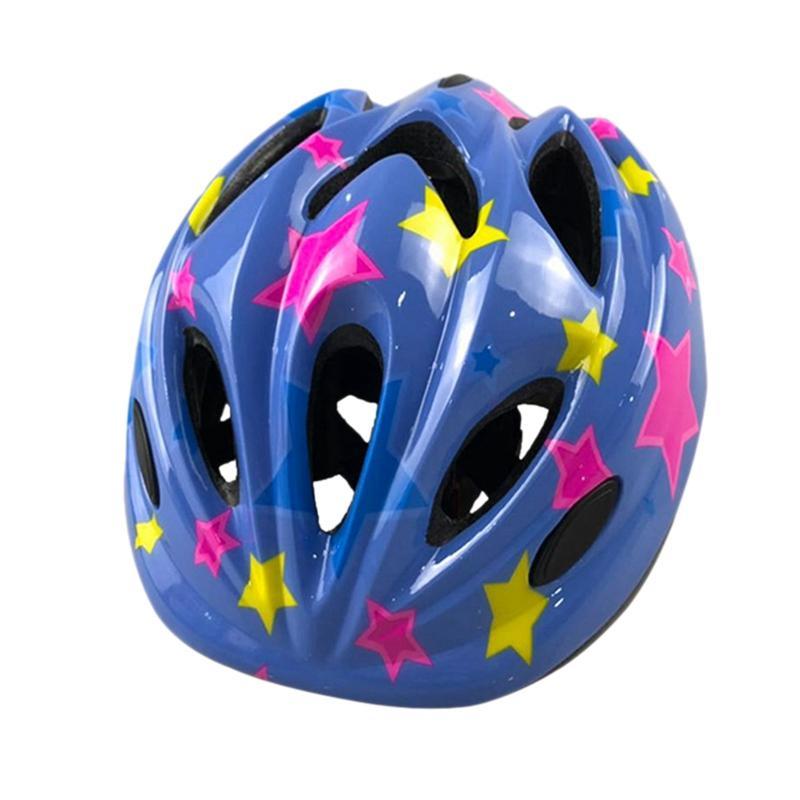 O skate de patinagem de capacete crianças com luz integrada Molding equilíbrio do carro Bicicleta Equitação Capacete de Segurança