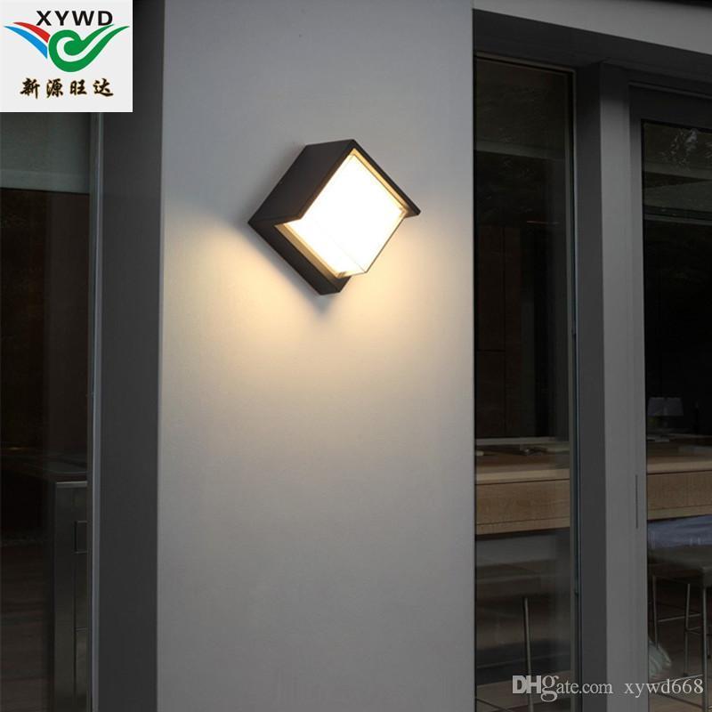 Venta al por mayor al aire libre lámpara de pared LED IP65 porche decoración terraza lámpara exterior balcón impermeable LED lámpara súper brillante hogar moderno simple