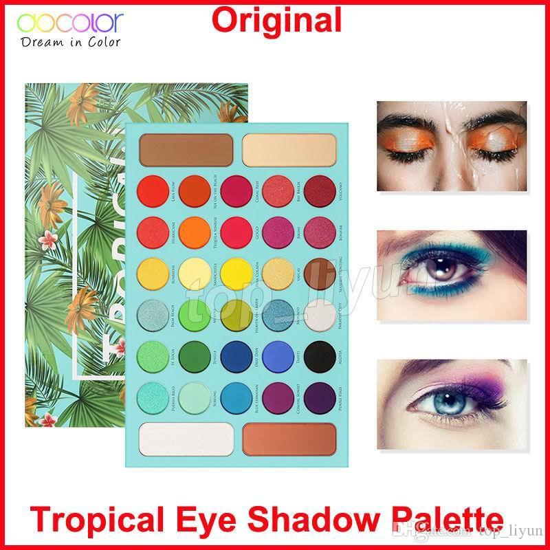 Docolor Tropical Eye shadow Palette makeup Eyeshadow 34 Color Shimmer Matte Highly Pigmented Eye Shadow Powder Waterproof Brand Cosmetics