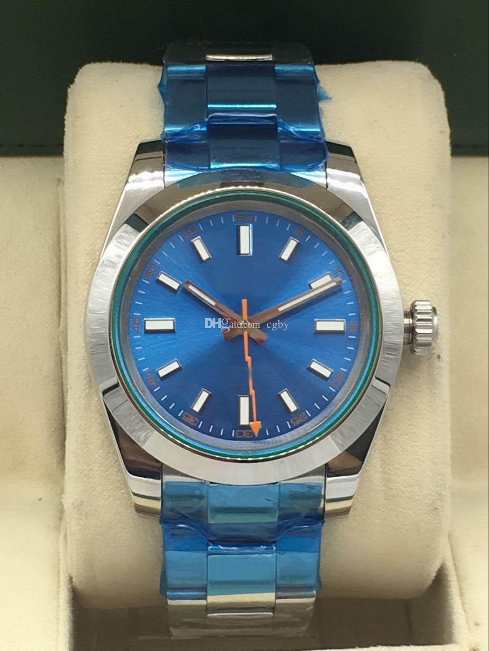 Erkekler mekanik spor watch.Luminous function.40mm paslanmaz çelik belt.M116400gv - 0002 series.Sports watch.316 material.2813 hareketi