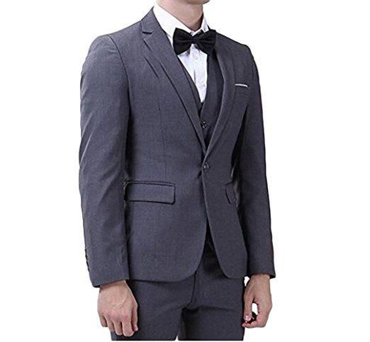 주문품 Groomsmen 노치 Lapel 신랑 턱시도 어두운 회색 남자 정장 결혼식 / 무도회 또는 저녁 식사 제일 남자 재킷 (자켓 + 바지 + 조끼 + 넥타이) M1019