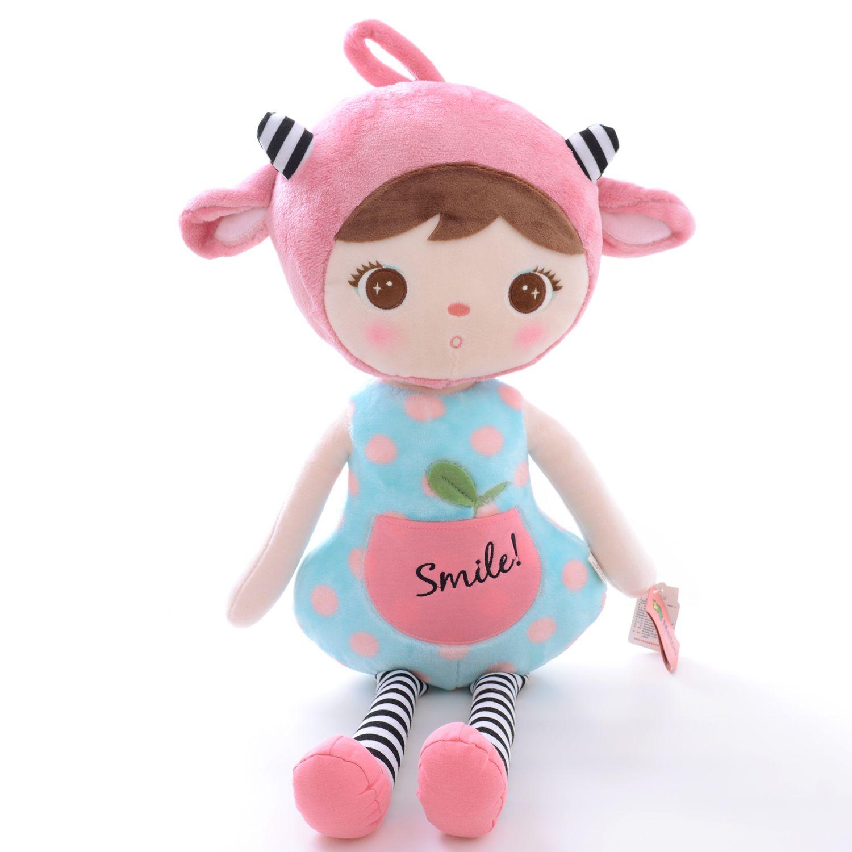 METOO Keppel Фаршированная розовый / красный овец Девушка Детские куклы плюшевые игрушки 18 дюймов