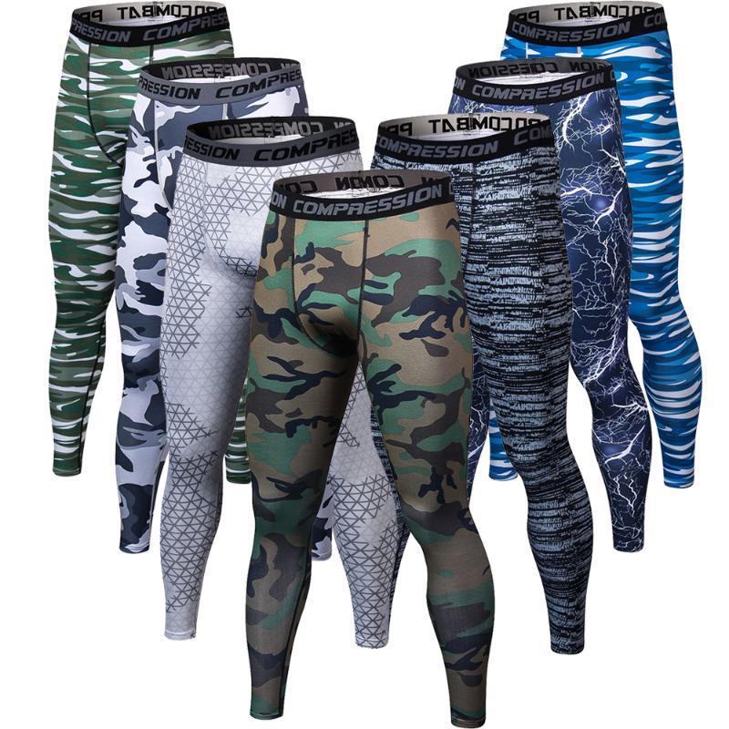Impression 3D Pantalon de camouflage Hommes Fitness Hommes Joggings Compression Homme Pantalons Bodybuilding Collants Leggings Pour les hommes