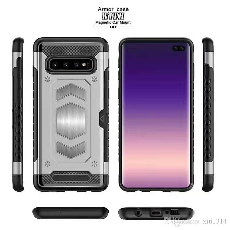 Caso duro a prueba de golpes para la nota 9 8 Caso soporte para teléfono armadura Magentic para Samsung S10 Plus S10E S9 S8 con ranura para tarjetas 10 Plus