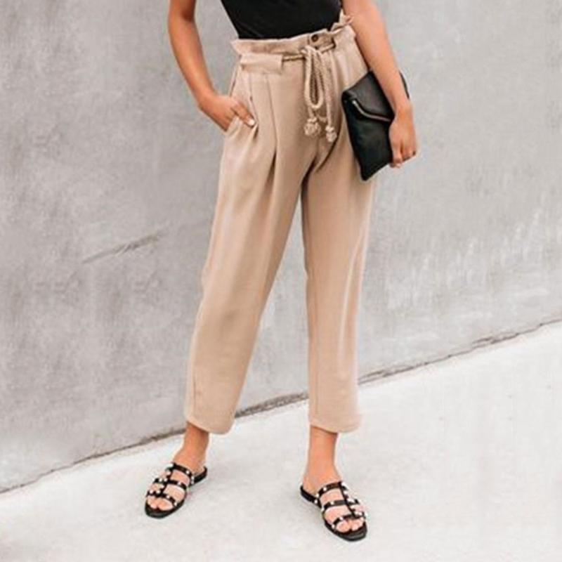 Hosen-Frauen-hohe Taillen-Harem-Hosen 2020 lose Jeans plus Größe Hose Sommer Women Casual Street Femme Cargohose