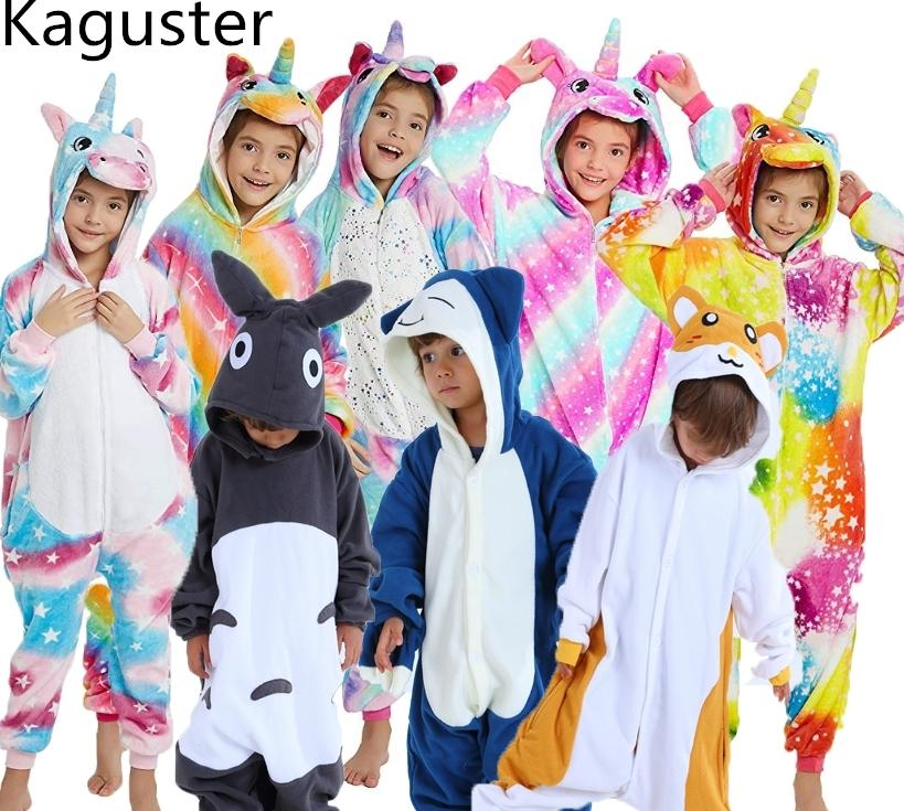 Sale Kids Pajamas Kigurumi Unisex Cosplay Animal Costume bodysuit Sleepwear Hot
